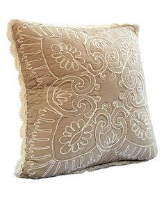 Taupe Nicola Throw Pillow | zulily