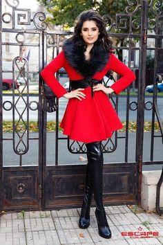 abrigo  rojo  jacket  red  otoño  autum  invierno  perfecto cab0a9928d37