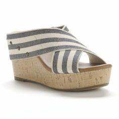 SONOMA life + style Banded Platform Wedge Sandals - Women