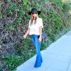 Nordstrom flare jeans, Revolve Clothing, 70's Vibe, San Diego fashion blogger