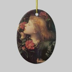 Victorian Rose Oval Christmas Tree Ornaments by Graphic Allusions. $16.85