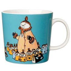 "Moomin Mugs from Arabia – A Complete Overview (2019) 54. Mymble's mother / Mymmelin äiti (2012–). The motif comes mainly from the story ""Moomin Builds a New House""."