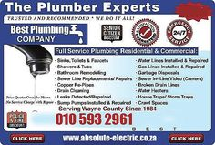 Plumbing sealant for leaks in Gauteng, Johannseburg and Pretoria    The Absolute Electric is giving a 3 months guarantee on the work done, Call us now on 010 593 2961 or Request a free quote online at   http://www.absolute-electric.co.za/contact-electrician-emergency.html Please contact Call Us Now On 010 593 2961 Or Request http://www.absolute-electric.co.za/contact-electrician-emergency.html