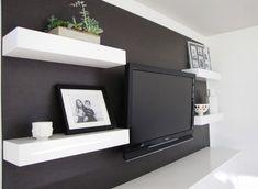 tv wall. sitting room