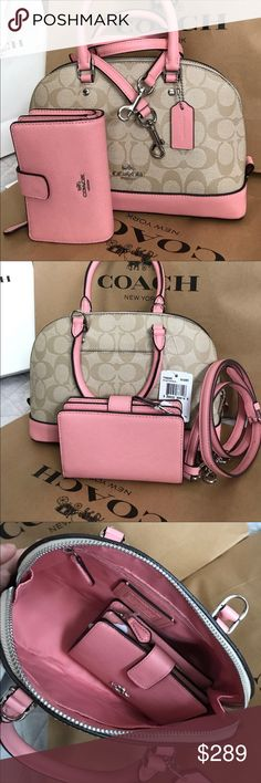 Coach Set Authentic Coach Purse Crossbody and Wallet, both brand new! Coach Bags Crossbody Bags Source by anitafairfax and purses crossbody Michael Kors Outlet, Handbags Michael Kors, Coach Handbags, Coach Purses, Purses And Handbags, Coach Bags, Purse Wallet, Purse Crossbody, Toms Outlet