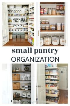 pantry shelving Find amazing ideas to organize your small pantry with these 25 small pantry makeovers. There are pantry ideas for all types of spaces. Small Pantry Cabinet, Small Pantry Closet, Small Pantry Organization, Built In Pantry, Pantry Shelving, Kitchen Pantry, Pantry Ideas, Organization Ideas, Kitchen Reno