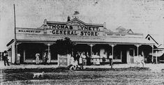 Thomas Lynett's Grocery Store in Winton,Queensland in 1898.   •State Library of Queensland•