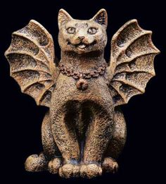 Little Happy Cat Gargoyle