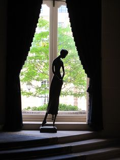 """""""Ava""""  in a window at the American Ambassador's Residence, Paris France"""