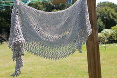 Hand knit alpaca shawl handspun yarn shawlette scarf by FARMSPUN