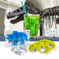 Ice cubes shaped like dinosaur fossils. Obviously a must-have.