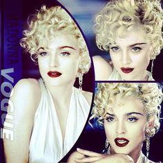 Madonna 1990 Madonna Vogue, Madonna Albums, Madona, Pop Idol, Short Hairstyles For Women, Veronica, My Girl, Short Hair Styles, Celebs