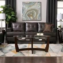 Samuel Bonded Leather Sleeper Sofa - Brown