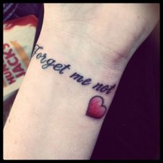 love this tattoo hair-make-up-ear-piercings-and-tattoos Makeup Tattoos, Body Art Tattoos, Tattoo Drawings, I Tattoo, Tattoo Quotes, Tatoos, Forget Me Not Tattoo, Little Bit Of Love, Latest Tattoos