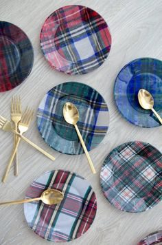 DIY, Plaid Fabric Gl