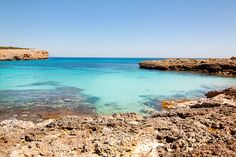 Beautiful turquoise water in Porto Colom