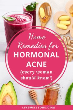 These home remedies for hormonal acne are designed to give you quick and lasting relief. This post shows you how to get rid of hormonal acne naturally, and also covers topics like hormonal acne treatment, hormonal acne supplements, hormonal acne remedies, Hormonal Acne Remedies, Natural Acne Remedies, Home Remedies For Acne, Health Remedies, Herbal Remedies, Bloating Remedies, Sleep Remedies, Acne Treatment At Home, Cystic Acne Treatment