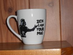 Design Your Own Mug by dirtydishes on Etsy, $15.00 I gotta get one of these for my star wars <3er