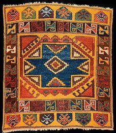 19th c. Konya carpet with Seljuk star motif.