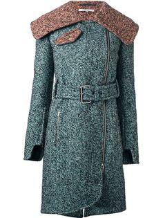 CARVEN Structured Tweed Overcoat