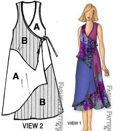 Amazing Sewing Patterns Clone Your Clothes Ideas. Enchanting Sewing Patterns Clone Your Clothes Ideas. Sewing Dress, Dress Sewing Patterns, Sewing Clothes, Clothing Patterns, Diy Clothes, Wrap Dress Patterns, Fashion Sewing, Diy Fashion, Fashion Dresses