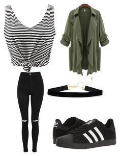 """Everyday/22"" by aneeciyapinkgirl on Polyvore featuring WithChic, Topshop and adidas"