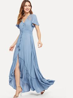 9e12dfb4071c1 14 Best Dresses with shirring images in 2018 | Ladies fashion, Maxi ...