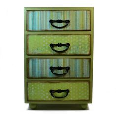#Handmade #Jewelry box extra large in shades of green by #artbysunfire