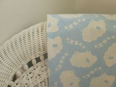 Blue Sheep Cotton Flannel Baby Blanket Baby by TheCountryBluebird