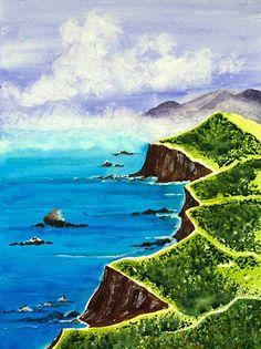 Watercolor Print Watercolor Beach Watercolor by KavitaartsDesigns