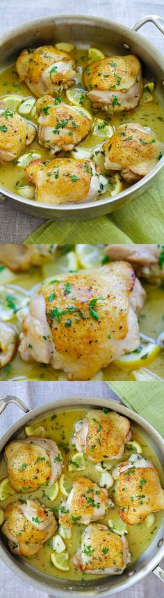 Lemon Chicken - one pan chicken pan-fried to golden perfection in buttery lemon sauce. Easy lemon chicken recipe that is perfect for dinner   http://rasamalaysia.com