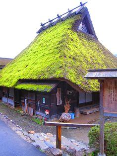 Kayabuki house at Miyama, Nantan, Kyoto, Japan