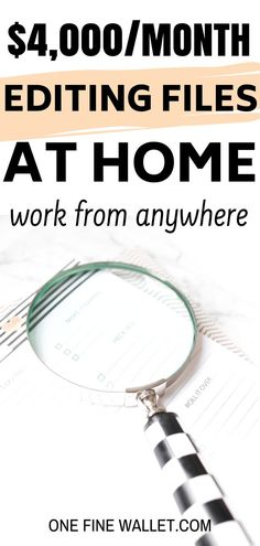 Start a new career editing files at home. Here's a little known work from home job that will make yo Earn Money From Home, Make Money Fast, Earn Money Online, Make Money Blogging, Money Tips, Saving Money, Work From Home Opportunities, Work From Home Tips, Work At Home Jobs