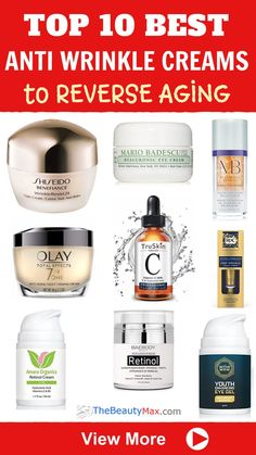 Here are The TOP 10 Best Drugstore Anti-Wrinkle Creams that Actually Work.Effective Anti-aging products don't have to be expensive. These affordable skin tightening products will get rid of fine lines and wrinkles without breaking the bank! Best Anti Aging, Anti Aging Skin Care, Natural Skin Care, Natural Beauty, Natural Facial, Creme Anti Age, Anti Aging Cream, Wrinkle Remedies, Firming Cream