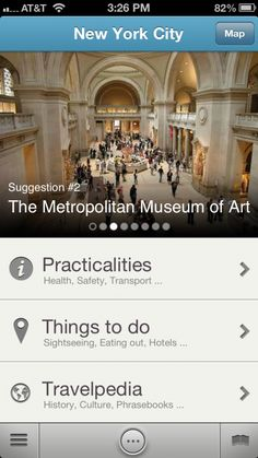 Good, free travel guide app - Triposo for iPhone and Android.