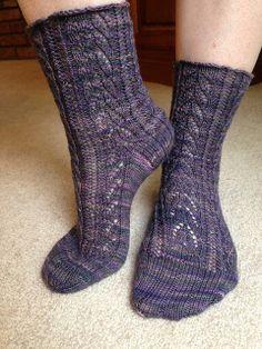 Ravelry: SuzyZim's Stormy Socks. Mountain Color Crazyfoot in Harmony Storm.