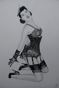 Classic Corset Pin Up Thanks To Bernie Dexter