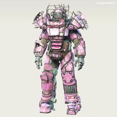 "Fallout 4 : Raider Power Armor Chop-Shop by MadMAX713. ""Hot Pink"" #fallout #Post_Apocalyptic #Sci_Fi"