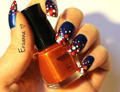 Dotting design made for Dutch holiday 'kingsday'. #naildesign #nailpolish