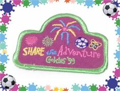 GIRL SCOUT badge patch SHARE THE ADVENTURE COOKIES 99 #girlscouts
