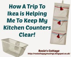 Rosie's Cottage: How A Trip To Ikea Is Helping Us Keep Our Kitchen Counters Clear (part Cook Book Stand, Book Stands, Storage Sets, Linen Storage, Kitchen Linens, Ikea Kitchen, Clocks Going Forward, Algot, Wall Bar