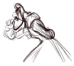 ✶ This drawing appears to show Hook pacing in thought. [from the first drawing done by Frank Thomas in the development of the characters for Peter Pan] ✏️☠⚓️★