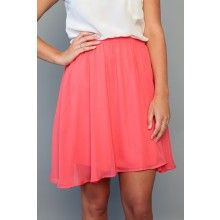 Patio Lunch Skirt- Coral - $45.00