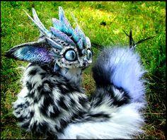 Posable Snow Leopard Dragon by *Wood-Splitter-Lee on deviantART