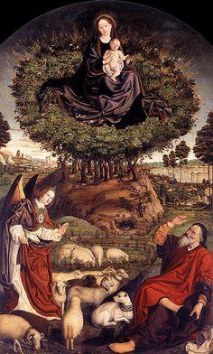 Froment, Nicolas (1435c.-1486c.) - 1476 The Burning Bush (Cathedral St. Sauveur, Aix-en-Provence)