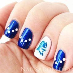 I sooooo want my nails like this! Beautiful Nail Designs, Cute Nail Designs, Basketball Nails, Duke Basketball, Basketball Season, Cute Nails, Pretty Nails, Sassy Nails, Hair And Nails