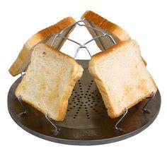 Warum sollte man als Backpacker auf das morgendliche Toast verzichten? Extrem flach und Platz sparend im Gepäck, entfaltet sich das unverzichtbare Accessoire bei Bedarf zu seiner vollen Größe und ...