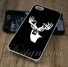 Buck Deer Head Wall Decal - iPhone 4/4S, iPhone 5/5S/5C, iPhone 6 Case, Samsung Galaxy S4/S5 Cases
