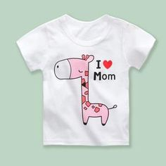Department Name: Children Item Type: Tops Tops Type: Tees Model Number: Clothing Length: Short Sleeve Length(cm): Short Gender: Unisex Fit: Fits true to size, take your normal size Collar: O-Neck Pattern Type: Cartoon Material: Cotton Style: Novelty Cute Tshirts, T Shirts, Kids Shirts, Pink Giraffe, Pop Heroes, New Years Sales, Baby Sweaters, Cartoon Kids, Summer Kids