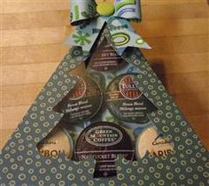 Project Center - K-Cup Coffee Gift Box - Christmas Tree - cricut Homemade Christmas Gifts, Great Christmas Gifts, Homemade Gifts, Diy Gifts, Christmas Crafts, Christmas Tree, Christmas Boxes, Cricut Tutorials, Cricut Ideas